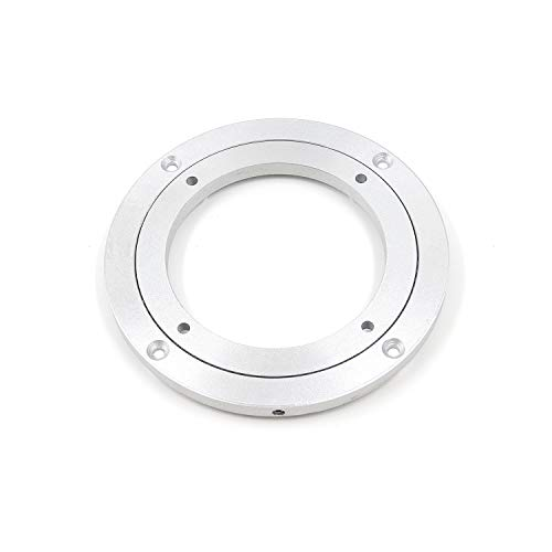 FarBoat Turntable 140mm/5.5inch Turntable Bearing Stand Heavy Duty Aluminum Alloy 360 Degree Rotating Swivel Plate Heavy Loads Base for Round Table