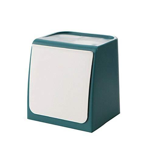 Teekit Mini cubo de basura para montaje en pared, para cocina, baño, cristal, adhesivo