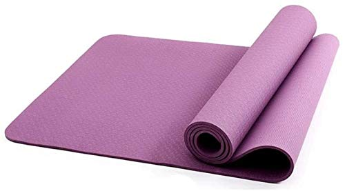 GDFEH Esterilla Yoga Matería de yoga de viaje Material TPE Material de yoga grueso alfombra de entrenamiento de yoga para yoga, pilates y ejercicios de piso Dual color diseño Pilates, Sit-up, escalado