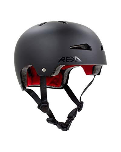 REKD Elite 2.0 Helmet Casco, Adultos Unisex, Black (Negro), 57-59 cm