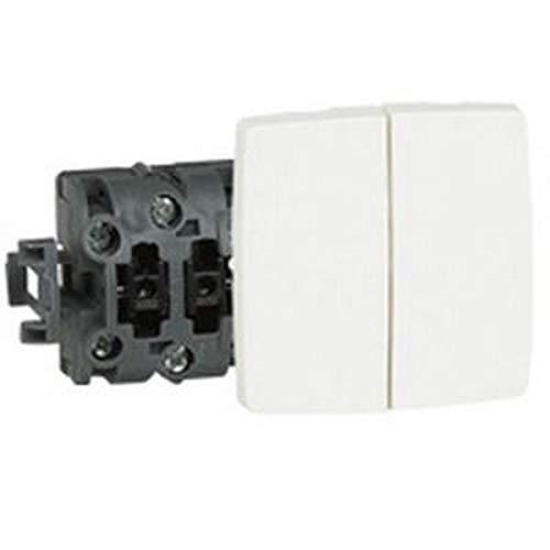 Legrand oteo - Combinación doble interruptor con visor serie cuadrada oteo