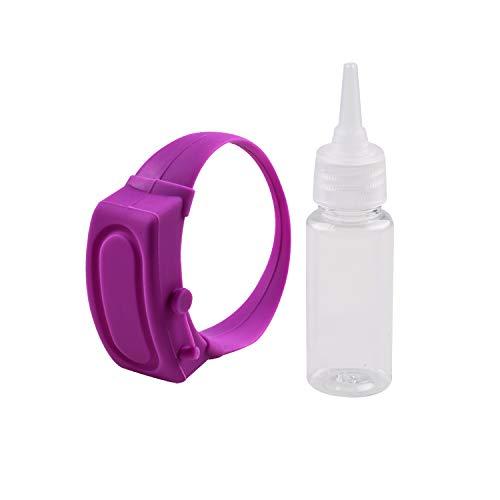 LUOLENG Dispenser di disinfettante per Mani per Bambini per Adulti, Bracciale per disinfettante per Mani Portatile con Bottiglia per Becco Riutilizzabile, Dispenser indossabile per Scuola, Viaggi