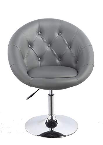 Duhome Sessel Farbenvielfalt höhenverstellbar Kunstleder Clubsessel Coctailsessel Loungesessel - TYP 509A, Farbe:Grau, Material:Kunstleder