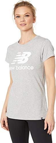 New Balance WT81536 Camiseta, Gris (Athletic Grey/White AGW), X-Small (Tamaño del Fabricante:XS)...