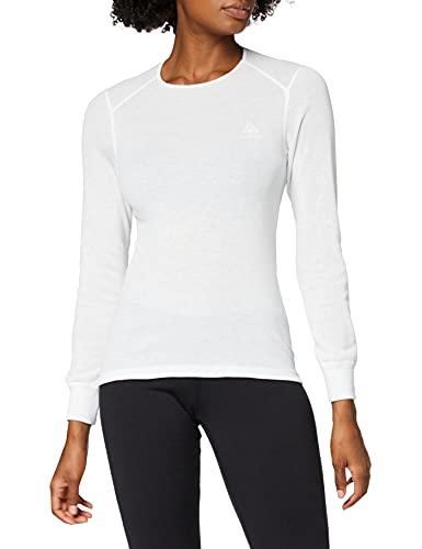 Odlo Damen Funktionsunterwäsche Long Sleeve Shirt Crew Neck Warm, weiß(weiß), S