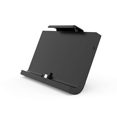 WE Batterie 10000mAh Coque pour Console Nintendo Switch USB-C 3.1A, Rajoute 4h à 6h, Chargeur Batterie Externe avec Support Arrière Réglable pour Switch - Noir