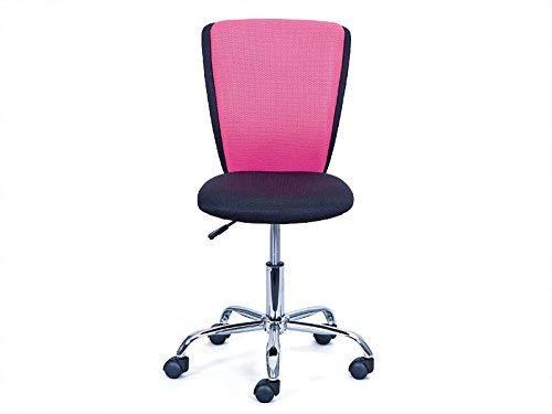 Inter Link bureaustoel, zwart roze, 41 x 86-98 x 51 cm