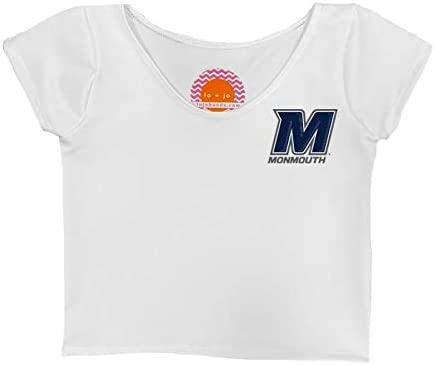 Lojobands Womens Tailgate Outfit College Fitted Cropped Tee Crop Top One Size Fits Most