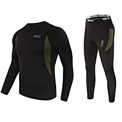 ♥ HEAT PRESERVATION & SUPER WARM - Designed with high quality fleece lining, the thermal underwear mens is windproof, it can keep you warm while running, cycling, hiking, jogging or walk the dog in the winter morning. ♥ BREATHABILITY & QUICK DRY - Br...