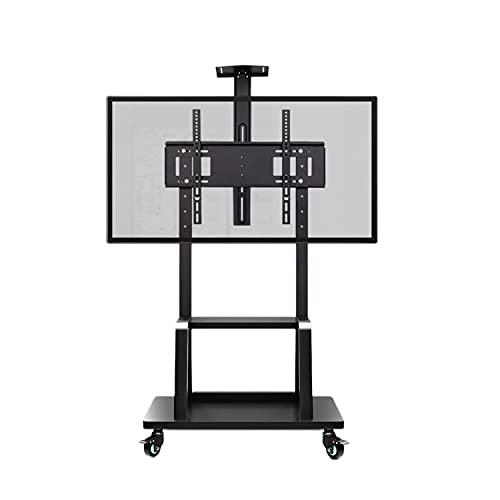 Soporte De Tv Giratorio Universal En Las Ruedas - Tapa Tv Stop Para 55-120 Pulgadas Lcd Tvs Led - Soporte De Base De Tv Ajustable En Altura Con Administración De Alambre, Tiene 120 Kg Y Max.vesa 1100x