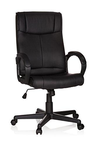 MyBuero XXL bureaustoel pilot kunstleer zwart managerstoel bekleed met armleuningen 65 x 59 x 119 cm 621955