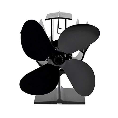 yaunli Ventilador de Chimenea Ventilador De Estufa De 4 Cuchillas para Quemador De Leña Chimenea Distribución Silenciosa Y Ecológica De Calor Ventilador de circulación de Calor de Chimenea