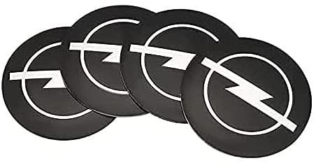 4 Piezas de Cubierta Central de Rueda de Coche, Adecuada para Opel Astra 56mm llanta de aleación Cubierta de Cubo Central Forma de Insignia Accesorios de decoración