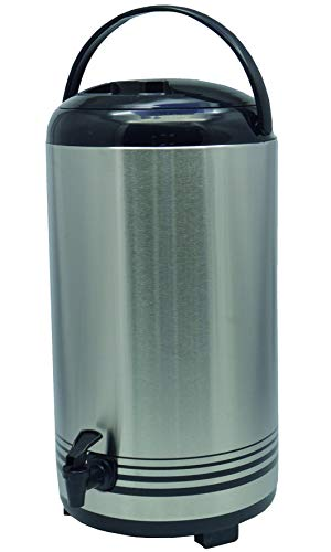 Saro ISOD 12 Getränke-Dispenser, Edelstahl, Silber, Durchmesser 23 x Höhe 42 cm