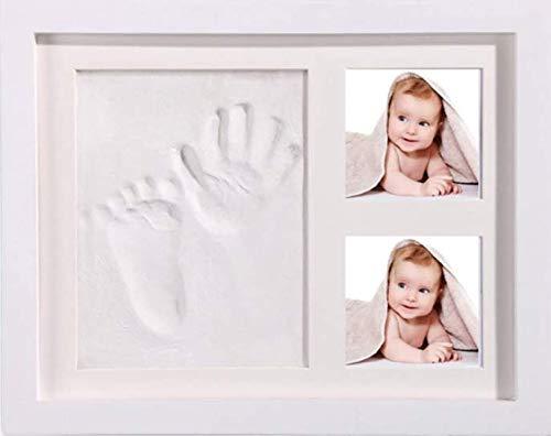 StillCool Marco de Fotos para Huella Manos y Pies DIY bebé Handprint y Inkpad de Fotos Regalos Babyparty seguro, Adecuado para El Crecimiento de Registros de Recién Nacidos/Bebés