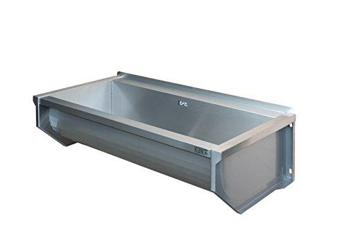 KUNe 120 cm Ausgussbecken | Waschtrog aus Edelstahl | Waschbecken
