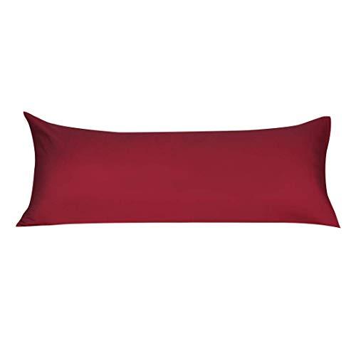 N/D - Funda de cojín de cuerpo de microfibra suave con cierre de cremallera, fundas de almohada largas para almohadas de cuerpo de vino (20'x 60')