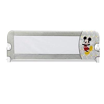 DISNEY Barrera Abatible Mickey Mouse - Tamaño: 150cm. Compatible con cama nido. Diseñada para uso de niños entre 18 meses y 5 años de edad. Barrera abatible de fácil instalación debajo del colchón. Se desenfunda para poder lavarla. Cumple con la norm...