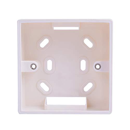 Decdeal Caja empotrable de pared cuadrada de 86 x 86 mm, caja de conexión de pared universal para termostato