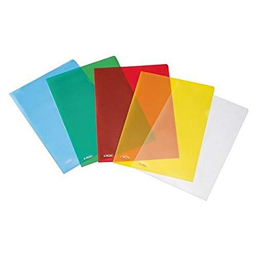 50009084 Aktenhülle A4 Pyramide, farbig sortiert, 10 Stück im Polybeutel