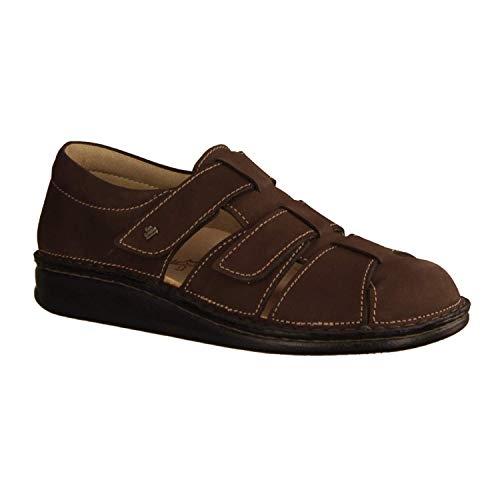 Finn Comfort Athos Marron (Dunkelbraun) - geflochtener Slipper - Herrenschuhe Sandale/Pantolette, Braun, Leder (Patagonia)