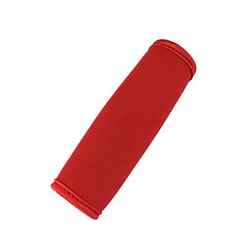 ACEHE Cubierta de Agarre para Cochecito, cómodo Neopreno para Equipaje, Agarre Envolvente, identificador Suave, Agarre para Cochecito, Cubierta Protectora para Bolsa de Viaje, Equipaje, Maleta (Rojo)
