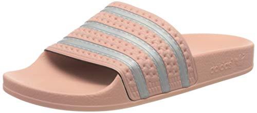 adidas Womens Adilette W Running Shoe, HAZCOR/FTWWHT/HAZCOR,40.5 EU
