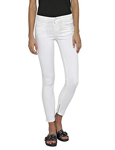 Replay Damen LUZ Ankle Zip Skinny Jeans, Weiß (White 1), 23W / 32L