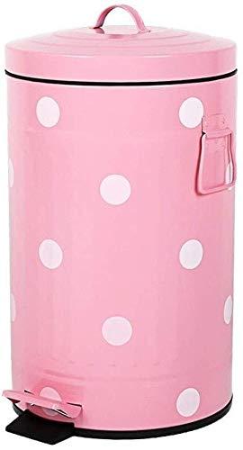 Yxsd Reciclaje de residuos – Papelera rosa, cubo de basura para cocina, papelera creativa (tamaño: 12 L)
