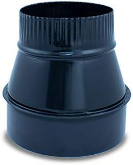 cualquier di/ámetro autoconectables. 100-110 mm Ampliaci/ón para tubo liso vitrificado para chimeneas y estufas de le/ña y pellet