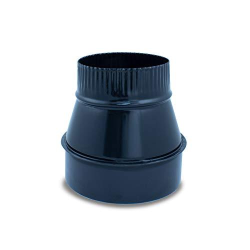 Reducción para tubo liso, vitrificado para chimeneas y estufas de leña y pellet, cualquier diámetro, autoconectables. (150-140 mm)