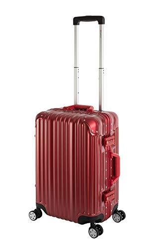 Travelhouse Maleta rígida con marco de aluminio London T1169, varios tamaños y colores, rojo (Rojo) - London T1169