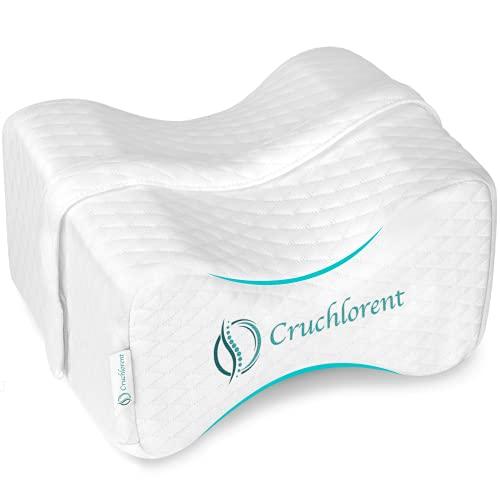 Cruchlorent White Canyon - Cuscino in Memory Foam Tecnico - Calibrato per Dormire sul Fianco con Supporto Fino a 95 kg.