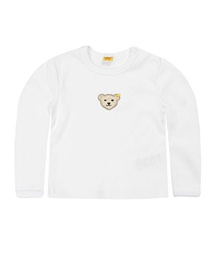 Steiff Unisex - Baby Sweatshirt 0006671, Gr. 56, Weiß (1000)