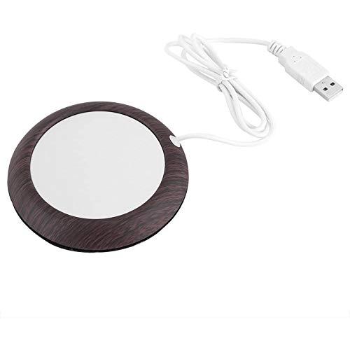 TTHU Coffee Mug Warmer Electric Cup Warmer Pad Wood Grain Beverage Mug Mat Office Tea Coffee Heater Pad with USB Cable
