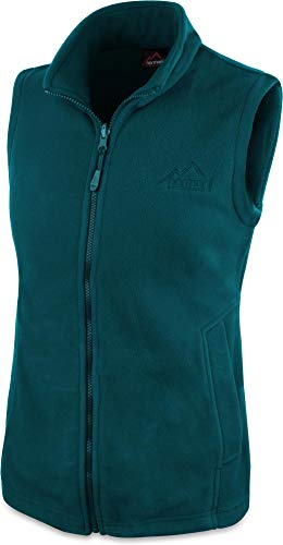 normani 280g Fleeceweste für Damen - Winddicht, leicht, warm, elegant Farbe Petrol Größe XL