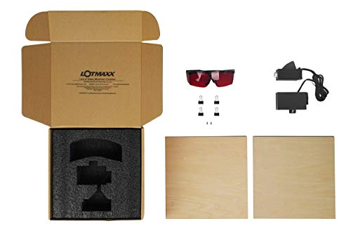 Lotmaxx Laser Engraving Kits with Goggles, Test Wooden Boards, 24V Laser Module for Shark 3D Printer(Space Grey)