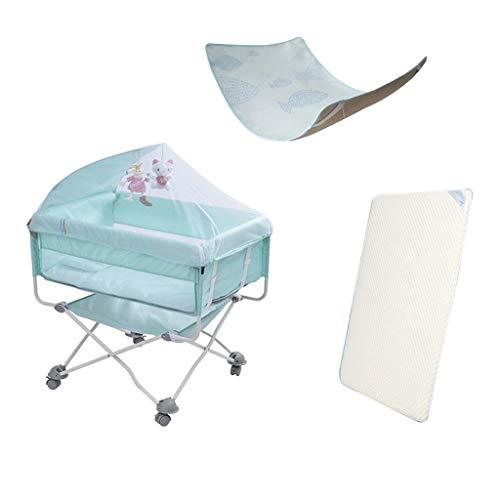 HLR Multifunktional Kinderreisebett Crib Für Baby Sleeptight Spiel Bett Tragbar Falten Moskito Netto 3 Farben (Color : B)