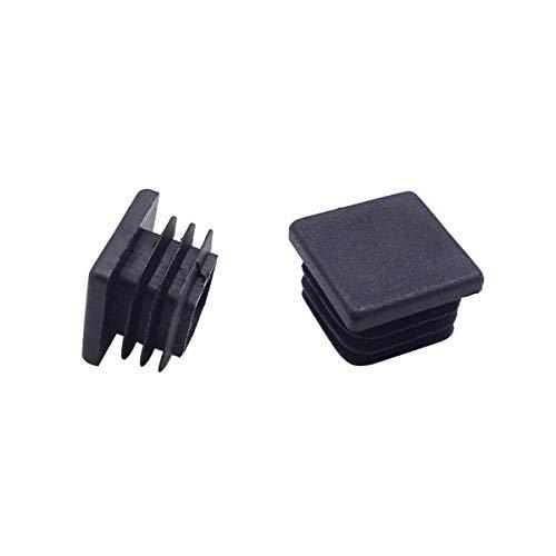 4 Pack 1 Inch Square Plastic Plug Tubing End Cap Suitable for Square Tube(Black)