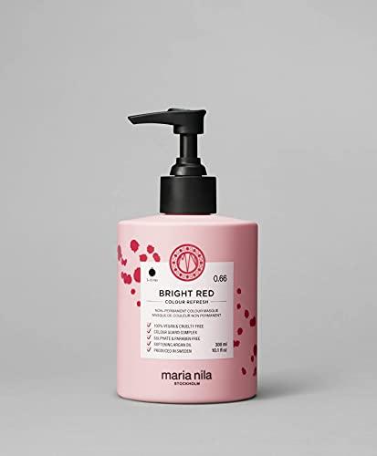 Maria Nila Colour Refresh - Bright Red 300ml   Eine revolutionäre Farbmaske zur Auffrischung und Intensivierung der Haarfarbe