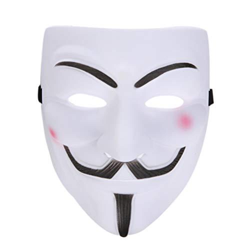 KKPLZZ Vendetta Mask , Vendetta Mask Horrormaske für Halloween Fancy Adult Costume Accessoires