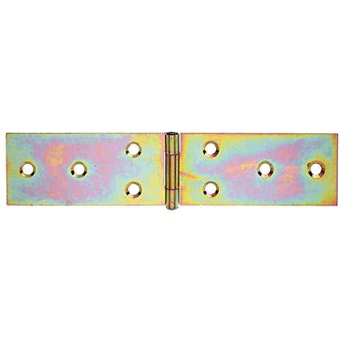 Tischb/änder Juego de 10 cintas para mesa 25 x 51 x 1,7 cm, bisagras enrolladas, galvanizadas color amarillo