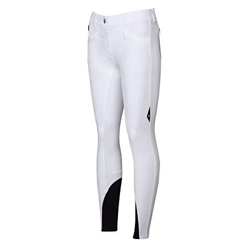 Equiline Pantaloni da Equitazione da Donna, Fullgrip Lexy, Colore Bianco, Taglia 38