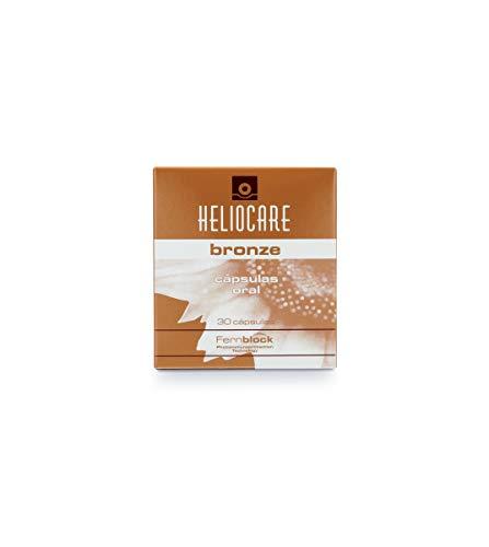 Heliocare Oral Cápsulas Bronze - Estimula el Bronceado Natural y Homogéneo, Fotoprotección desde el Interior, Antioxidante, Eficacia Inmediata, 30 cápsulas
