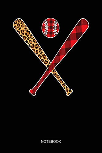 Baseball bat Player Buffalo Plaid leopard Christmas Sports Notebook: Notebook Planner, Daily Planner Journal, To Do List Notebook, Daily Organizer