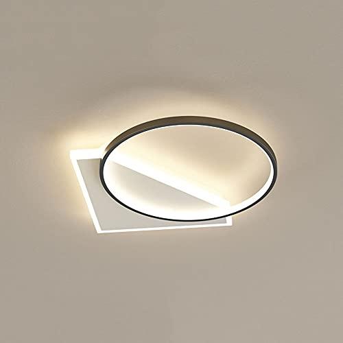 HUJUNM Flush Mount LED Luz de techo Moderna Minimalista Minimalista Lámpara de techo ultra delgada de tres colores Lámpara de iluminación Dimensión Nordic Creative Diamond Anillo Iluminación Accesorio