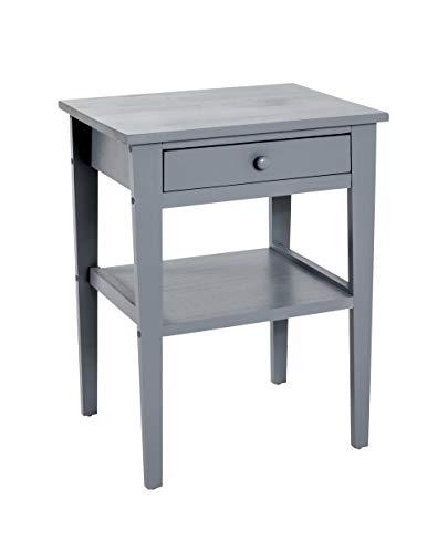 HAKU Möbel Kommode, Massivholz, grau, 35 x 46 x 60 cm