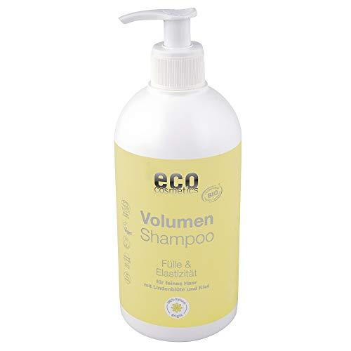 eco cosmetics Volumen-Shampoo für alle Haartypen, Vorteilsgröße mit Pumpspender, Volumen durch mit Bio Lindenblüte & Bio-Kiwi, natürliche Haarpflege für gesundes Haar, Vegan, 1x 500ml