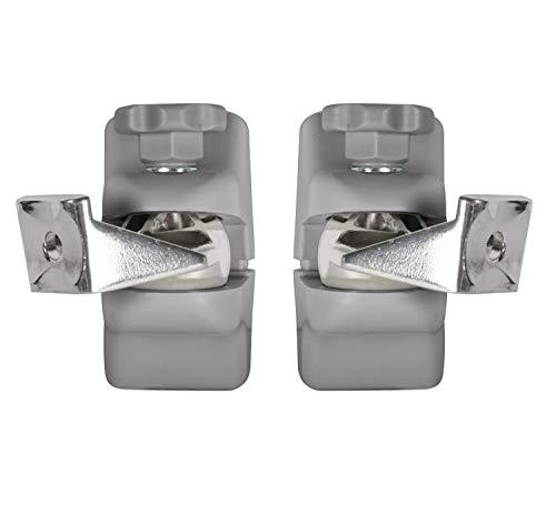 7 cm Heimkinolautsprecher-Wandhalterungs-Set Mountlogic Farbe: Silber