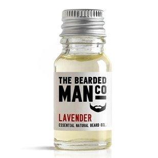 The Bearded Man Compnay Huile de Barbe Lavande 10ml - Humidifiante Visage Naturel végétalien
